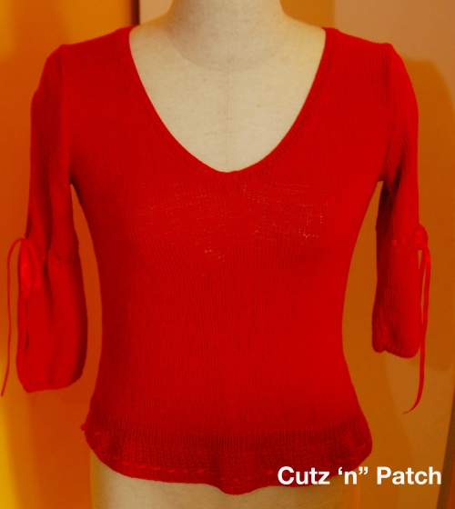 Red Knitted Baju