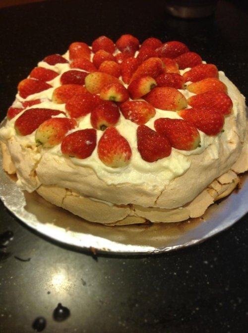 Weekend baking with my new Breville Mixing..Loving both Pavlova and my mixer.
